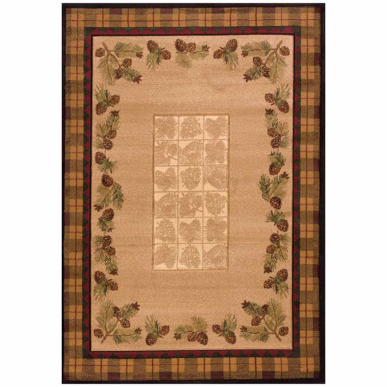 United Weavers Contours Carleo Entertainment Management Collection Winter Pines Rectangular Rug