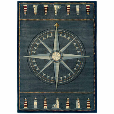 United Weavers Contours Collection Compass Rectangular Rug