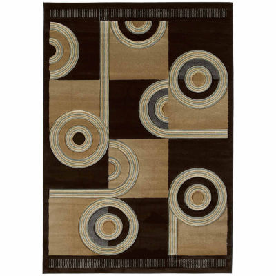United Weavers Contours Collection Spiral Canvas Rectangular Rug