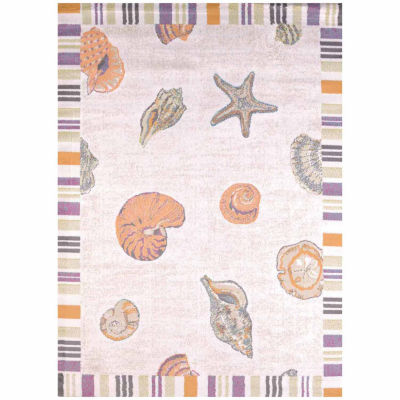 United Weavers Regional Concepts Collection Sand And Shells Rectangular Rug