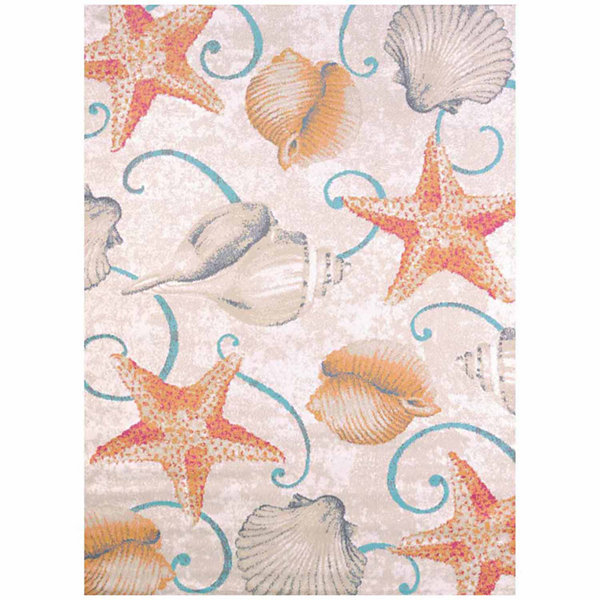 United Weavers Regional Concepts Collection Stars And Shells Rectangular Rug