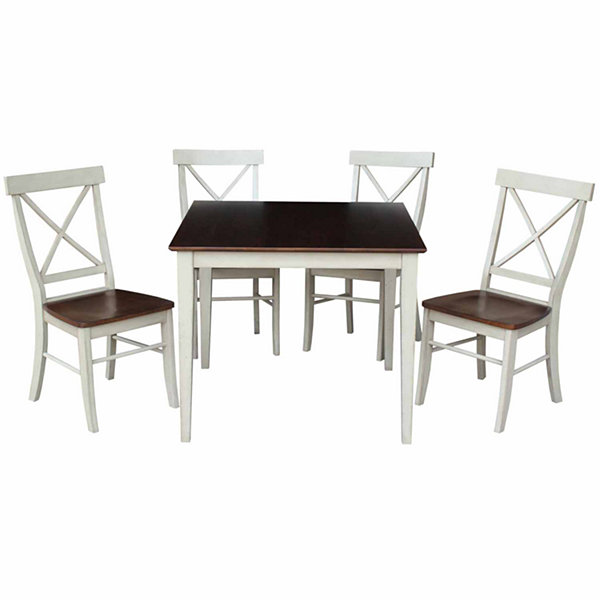 Dining Table With 4 X-Back Chairs