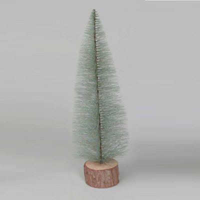 "18"" Blue Spruce Village Artificial Christmas Treewith Wooden Base"""