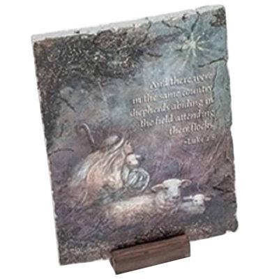 "7"" Inspirational Luke 2:8 Shepherd Religious Christmas Decorative Plaque"""