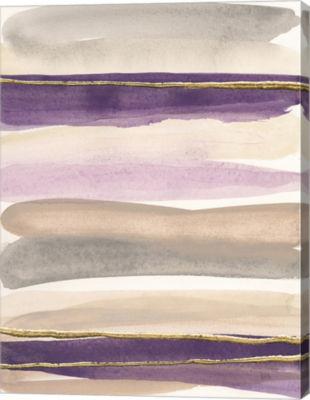 Metaverse Art Gilded Amethyst I Crop Canvas Art