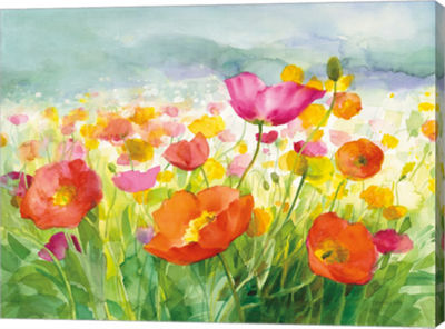 Metaverse Art Meadow Poppies Canvas Art