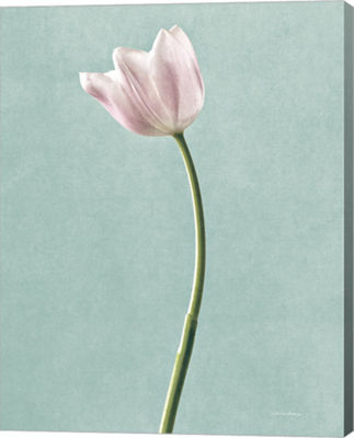 Metaverse Art Light Tulips I Harbor Gray Canvas Art