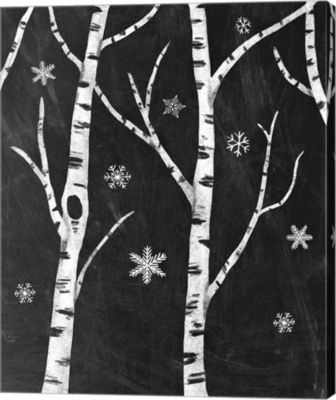 Metaverse Art Snowy Birches II Canvas Art