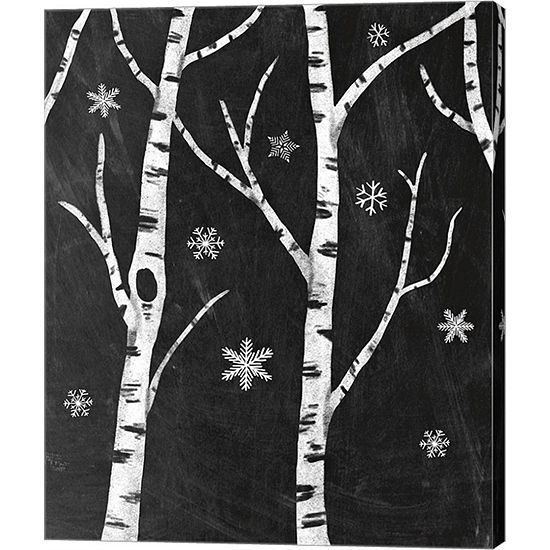 Metaverse Art Snowy Birches Ii Canvas Art
