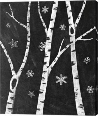 Metaverse Art Snowy Birches III Canvas Art