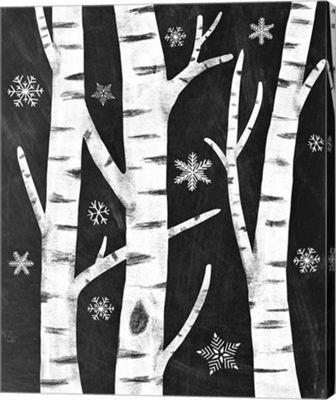 Metaverse Art Snowy Birches Canvas Art