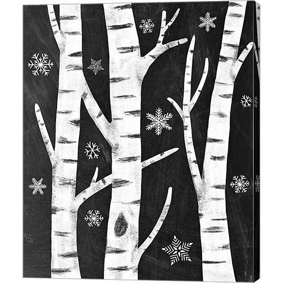 Metaverse Art Snowy Birches Canvas Art
