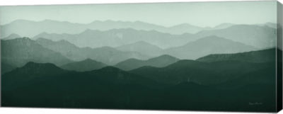 Metaverse Art Green Mountains Canvas Art