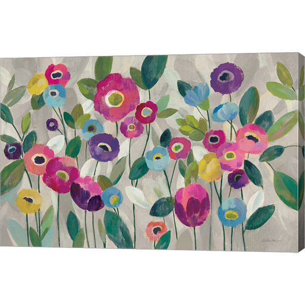 Fairy Tale Flowers V Pink Canvas Art