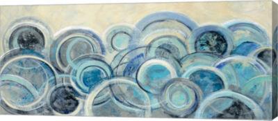 Metaverse Art Variation Blue Canvas Art