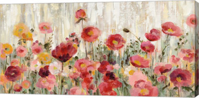 Metaverse Art Sprinkled Flowers Canvas Art