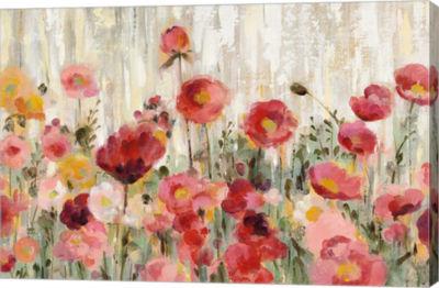 Metaverse Art Sprinkled Flowers Crop Canvas Art