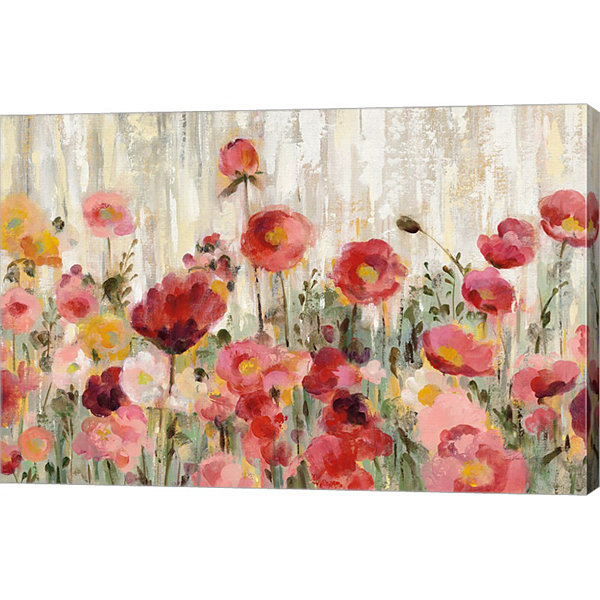 Metaverse Art Sprinkled Flowers Crop Canvas Art