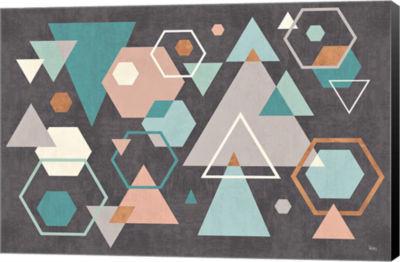Metaverse Art Abstract Geo I Black Canvas Art