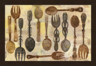 Metaverse Art Spoons and Forks Framed Print