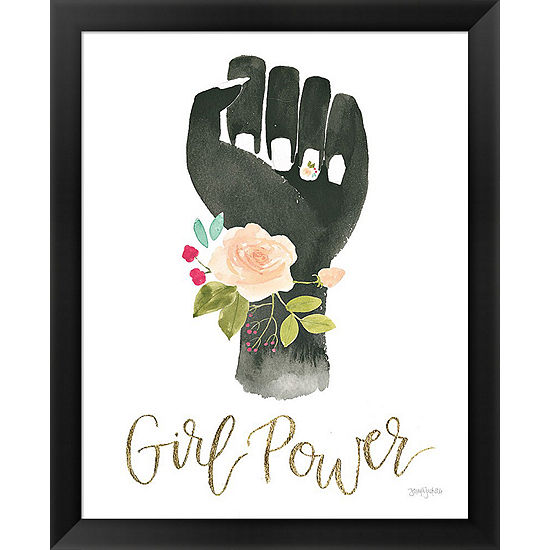Metaverse Art Girl Power Xi Framed Print
