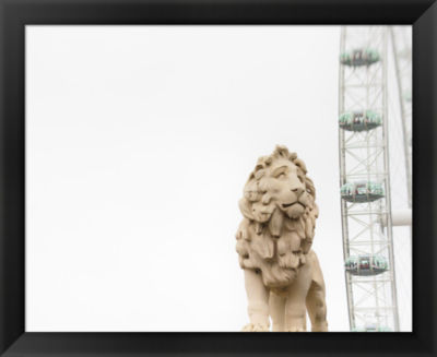 Metaverse Art Lion of London Framed Print