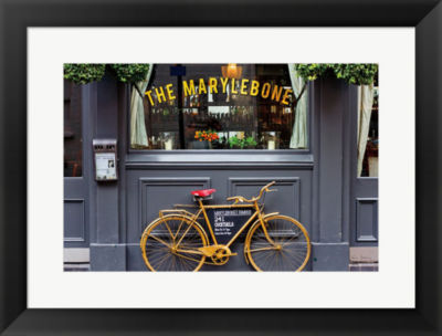 Metaverse Art Marylebone Bike Framed Print