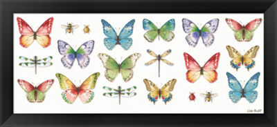 Metaverse Art Colorful Breeze Bright Butterflies and Bugs Framed Print