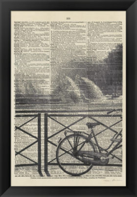 Metaverse Art La Bicyclette I Crop Framed Print