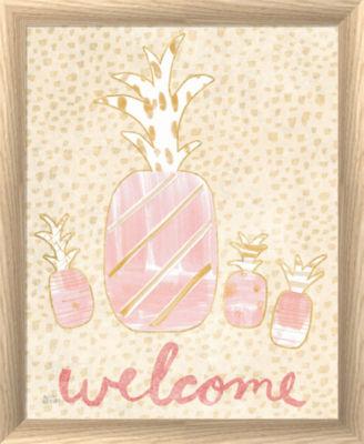 Metaverse Art Pineapple Blush II Framed Print