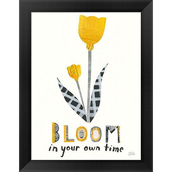 Metaverse Art Bloom Boldly Iv Framed Print