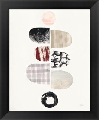 Metaverse Art Mod Neutrals I Blush Framed Print