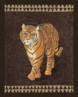 Metaverse Art Grand Tiger Traveller Framed Print