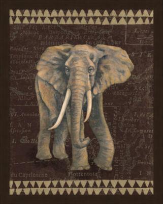 Metaverse Art Grand Elephant Traveller Framed Print