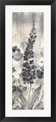 Metaverse Art Crystal Raindrops Panel III BW Framed Print