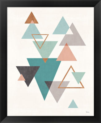 Metaverse Art Abstract Geo II Framed Print