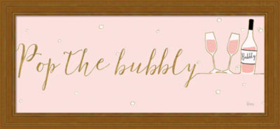 Metaverse Art Underlined Bubbly III Pink Framed Print