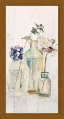 Metaverse Art Blossoms on Birch III Panel Framed Print