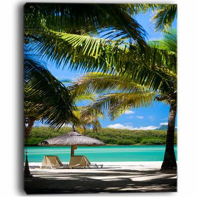 Designart Tropical Paradise Beach Photography Canvas Art Print