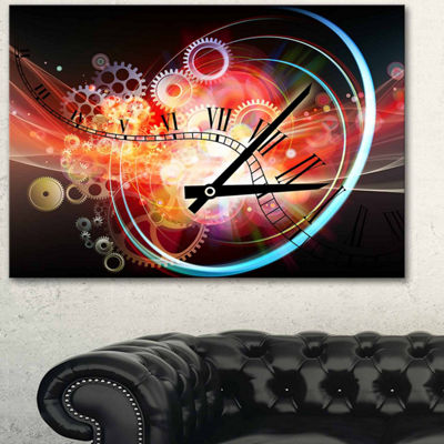 Designart Interesting Clock Contemporary Art Canvas Print