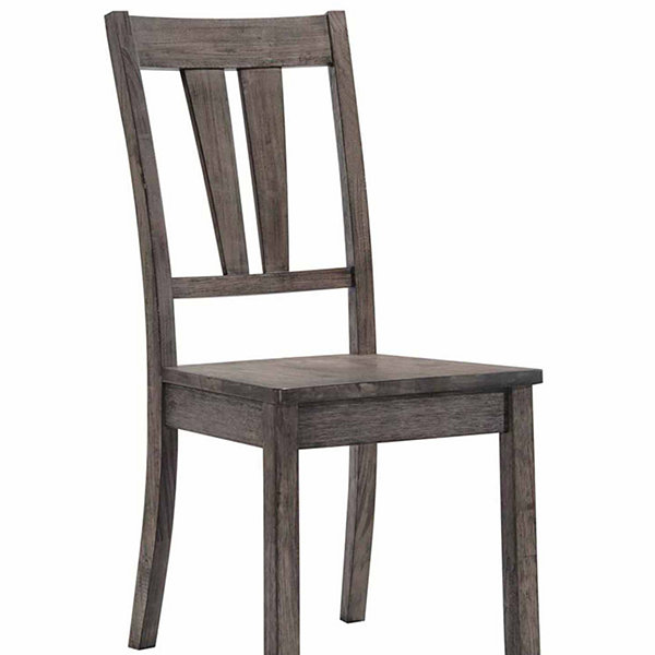 Picket House Furnishings Grayson Fan Back Chair with Wooden Seat