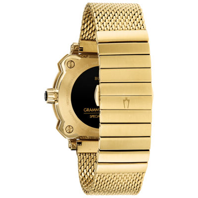 Bulova Mens Gold Tone Bracelet Watch-97b163