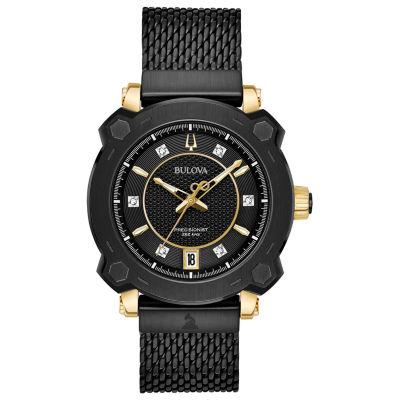 Bulova Womens Black Bracelet Watch-98p173