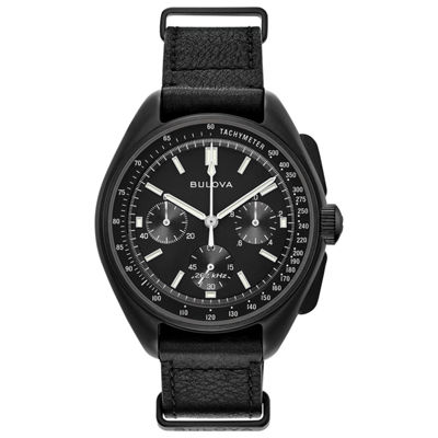 Bulova Mens Black Strap Watch-98a186