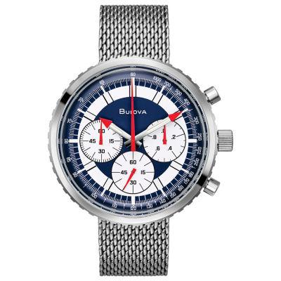 Bulova Mens Silver Tone Bracelet Watch-96k101