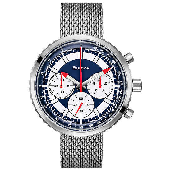 Bulova Chronograph C Mens Silver Tone Stainless Steel Bracelet Watch - 96k101