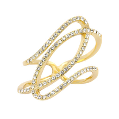 Sparkle Allure Womens Clear Cocktail Ring