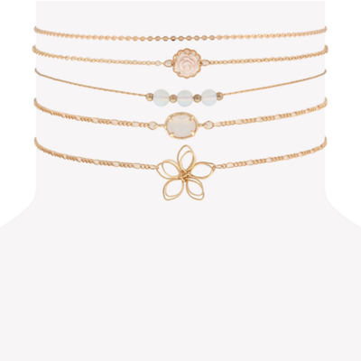 Decree Womens Round Choker Necklace