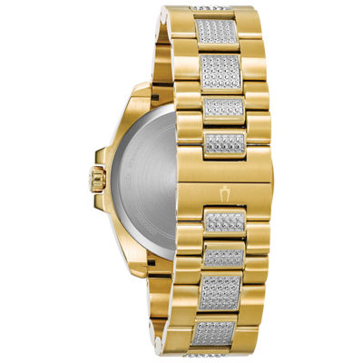 Bulova Mens Gold Tone Bracelet Watch-98c128