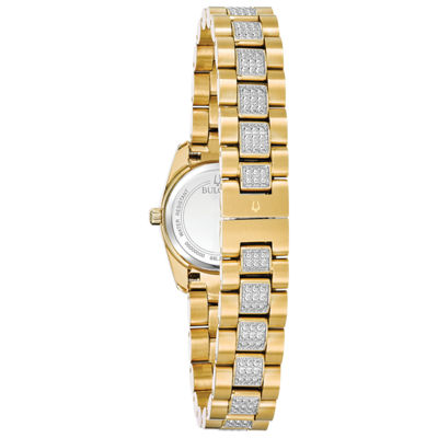 Bulova Womens Gold Tone Bracelet Watch-98l241